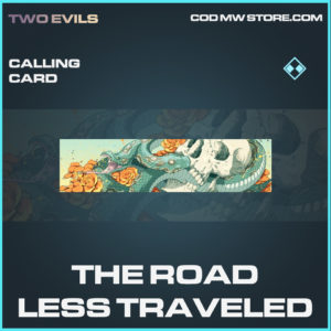 The Road Less Traveled calling card rare call of duty modern warfare warzone item