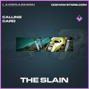 The Slain calling card epic call of duty modern warfare warzone item
