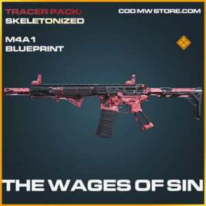 The Wages of Sin M4A1 skin legendary blueprint call of duty modern warfare warzone item