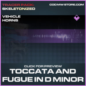 Toccata and fugue in d minor vehicle horns epic call of duty modern warfare warzone item