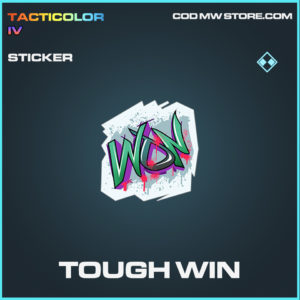 Tough Win sticker call of duty modern warfare warzone item