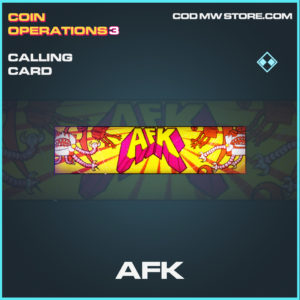 AFK calling card Call of duty modern warfare warzone item