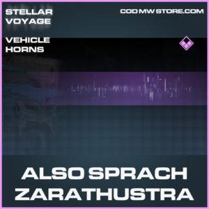 Also Sprach Zarthustra vehicle horns epic call of duty modern warfare warzone item