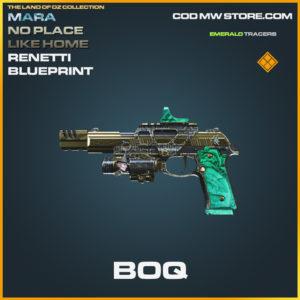 BOQ Renetti skin mara no place like home legendary blueprint call of duty modern warfare warzone item