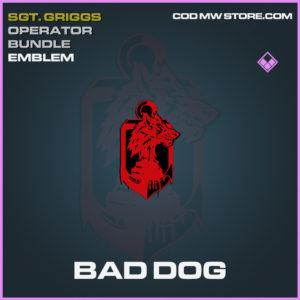 Bad Dog Emblem Epic call of duty modern warfare warzone item
