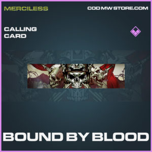 Bound By Blood calling card call of duty modern warfare warzone item
