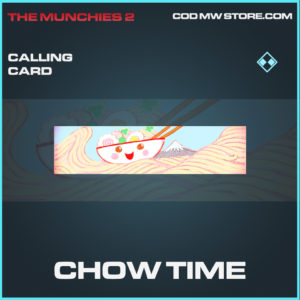 Chow Time calling card rare call of duty modern warfare warzone item