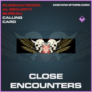 Close Encounters calling card epic call of duty modern warfare warzone item