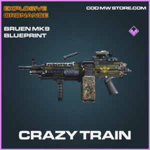 Crazy Train Bruen MK9 skin Explosive Ordnance legendary blueprint call of duty modern warfare warzone item