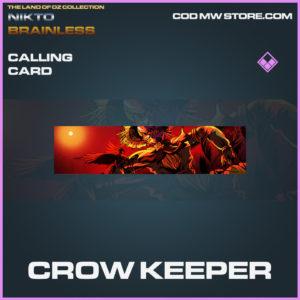 Crow Keeper calling card epic call of duty modern warfare warzone item