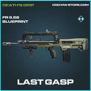 Last Gasp FR 5.56 skin epic death's grip call of duty black ops cold modern warfare warzone item