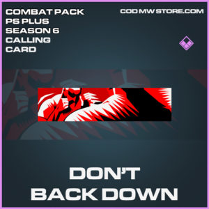 Don't Back Down calling card epic call of duty modern warfare warzone item
