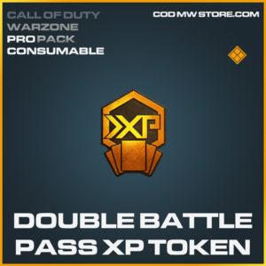 Double Battle Pass XP Token Call of Duty modern warfare warzone item