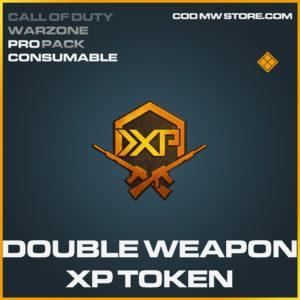Double Weapon XP token Call of Duty modern warfare warzone item