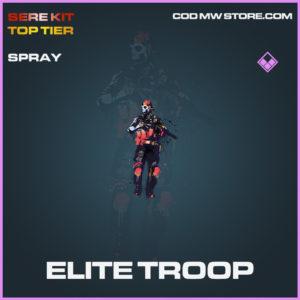 Elite Troop spray epic call of duty modern warfare warzone item