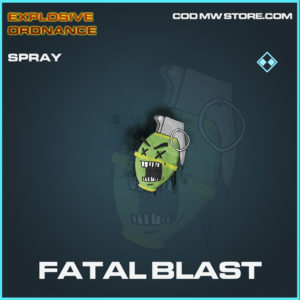 Fatal Blast spray rare call of duty modern warfare warzone item