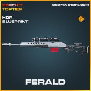 Ferald HDR skin legendary blueprint SERE Kit Top Tier call of duty modern warfare warzone item