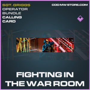 Fighting in the War room calling card Epic call of duty modern warfare warzone item