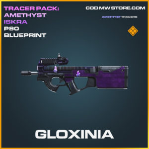 Gloxinia P90 Skin epic blueprint call of duty modern warfare warzone item