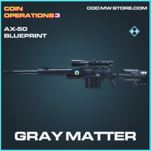Gray Matter AX-50 skin rare blueprint Call of duty modern warfare warzone item
