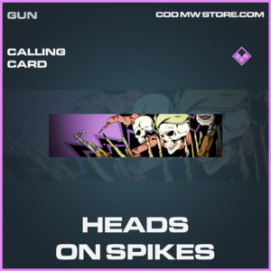 Heads on Spikes calling card call of duty modern warfare warzone item