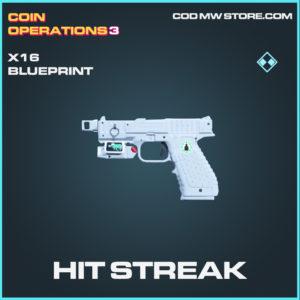 Hit Streak X16 skin rare blueprint Call of duty modern warfare warzone item