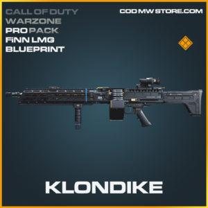 Klondike FiNN LMG Skin legendary blueprint Call of Duty modern warfare warzone item