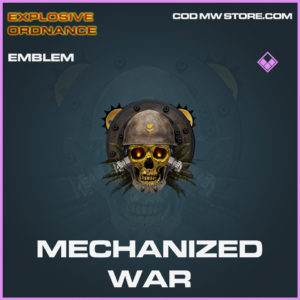 Mechanized War emblem call of duty modern warfare warzone item