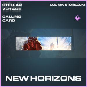 New Horizons calling card epic call of duty modern warfare warzone item