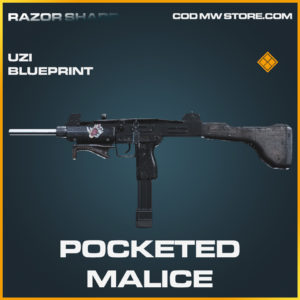 Pocketed Malice UZI skin legendary blueprint call of duty modern warfare warzone item