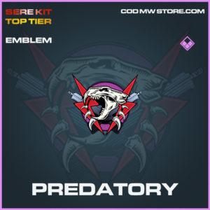 Predatory emblem epic call of duty modern warfare warzone item