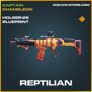 Reptilian Holger-26 skin legendary blueprint call of duty modern warfare warzone item
