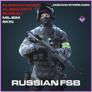 Russian FSB Mil-Sim skin epic call of duty modern warfare warzone item