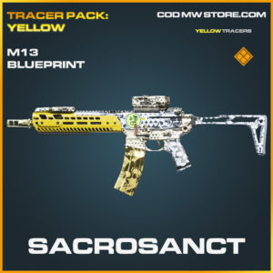 Sacrosanct M13 Skin legendary blueprint call of duty modern warfare warzone item