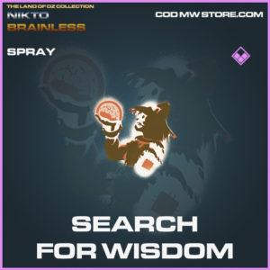 Searh For Wisdom spray epic call of duty modern warfare warzone item