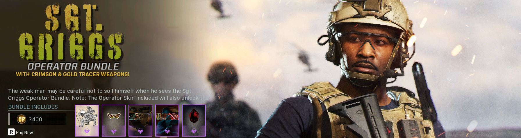 Sgt. Griggs Operator Bundle