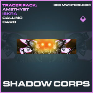 Shadow Corps calling card epic call of duty modern warfare warzone item