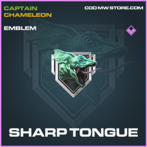 Sharp Tongue emblem call of duty modern warfare warzone item