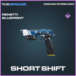 Short Shift Renetti skin epic blueprint call of duty modern warfare warzone item