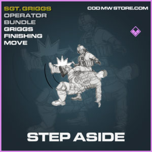 Step Aside Finishing Move Epic Sgt. Griggs Operator Bundle call of duty modern warfare warzone item