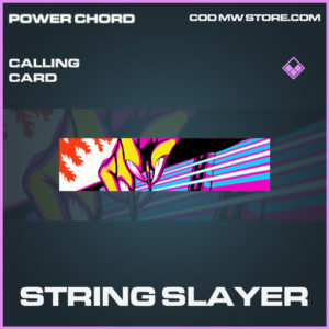 String Slayer calling card epic call of duty modern warfare warzone item