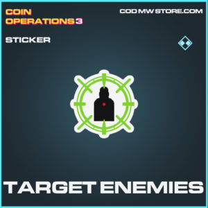 Target Enemies sticker Call of duty modern warfare warzone item