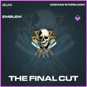 The Final Cut emblem call of duty modern warfare warzone item