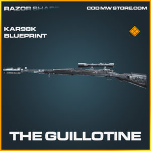 The Guillotine Kar98k Skin legendary blueprint call of duty modern warfare warzone item