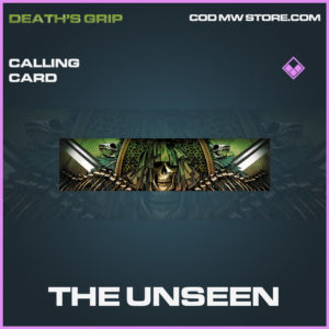The Unseen calling card epic death's grip call of duty modern warfare warzone item