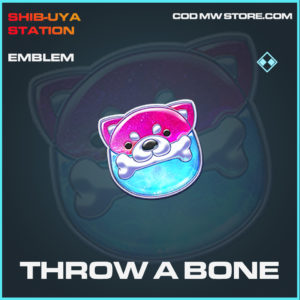 Throw A Bone emblem call of duty modern warfare warzone item