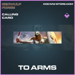 To Arms calling card epic Beowulf Forge call of duty modern warfare warzone item