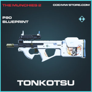 Tonkotsu P90 skin rare blueprint call of duty modern warfare warzone item