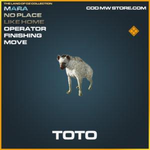 Toto operator finishing move mara no place like home call of duty modern warfare warzone item