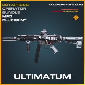 Ultimatum Legendary skin Sgt. Griggs Operator Bundle blueprint call of duty modern warfare warzone item